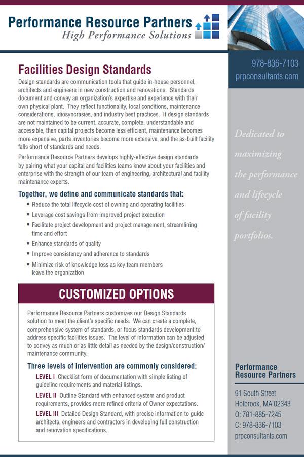 PRP Facilities Design Standards